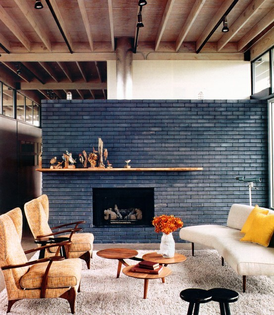 For more modern look you can choose sleek brick panels that are used to cover houses outside.