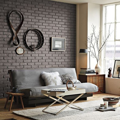 For A Modern Sleek Look You Can Go With Monochromatic Bricks Without Sings  Of Age.