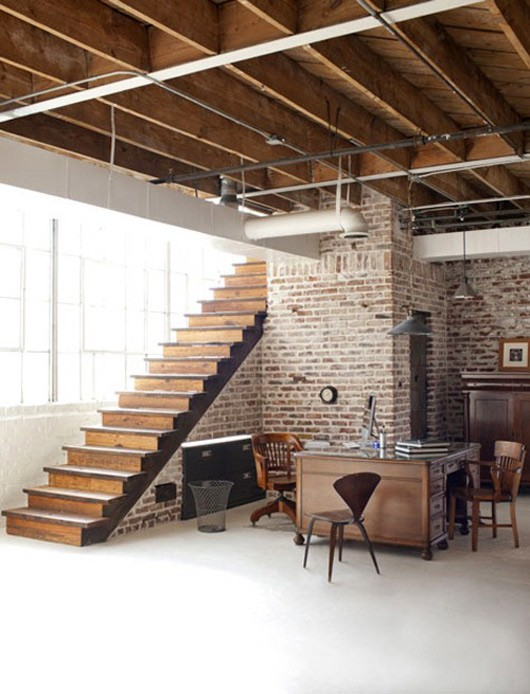 69 cool interiors with exposed brick walls digsdigs White walls and exposed brick go minimalist in this couple s retreat