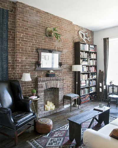 69 cool interiors with exposed brick walls digsdigs for White exposed brick wall