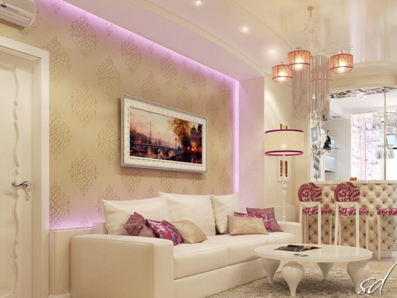 Exquisite Feminine Apartment Decorated With Pure Taste