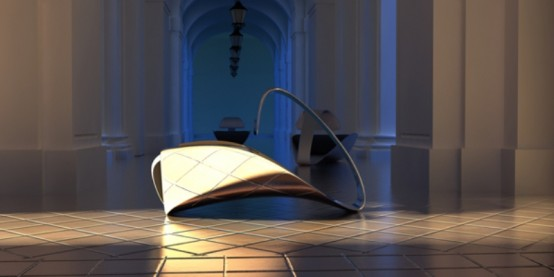 Exquisite Futuristic Chair Inspired By A Swan Sleeping