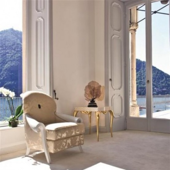Exquisite Gold And White Furniture Collection By Rozzoni Mobili
