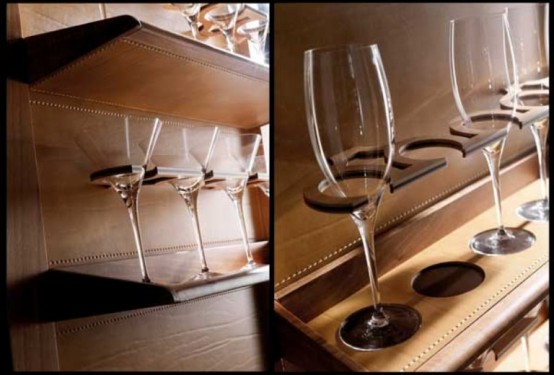 Exquisite Hand Made Bar Of Wood And Leather