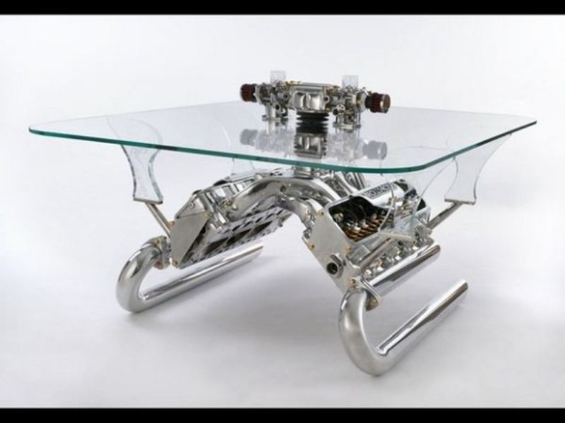 Tables Made From Car Parts