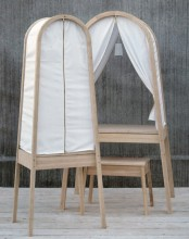Exquisite Time Flies Desk With A Fabric Canopy