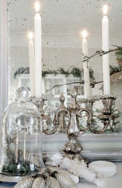 51 exquisite totally white vintage christmas ideas digsdigs - Deco table noel argent et blanc ...