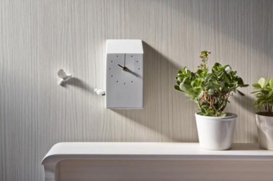 Eye Catching Cuckoo X Clock With Two Birds