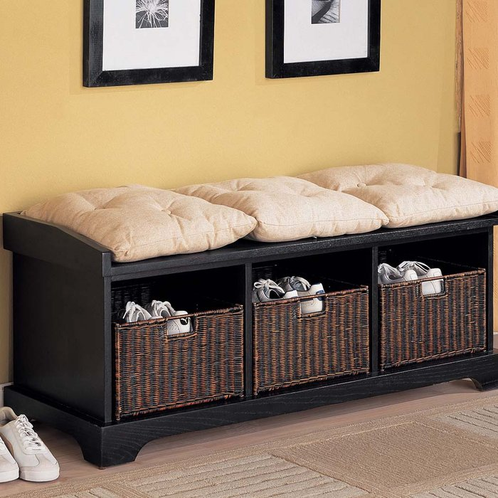 Home Furniture Coaster Furniture Living Room Dark Brown Coffee Table 30 Eye-Catching Entryway Benches For Your Home | DigsDigs