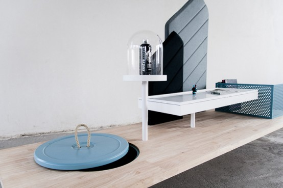 Eye Catching Interactive Table For Storage