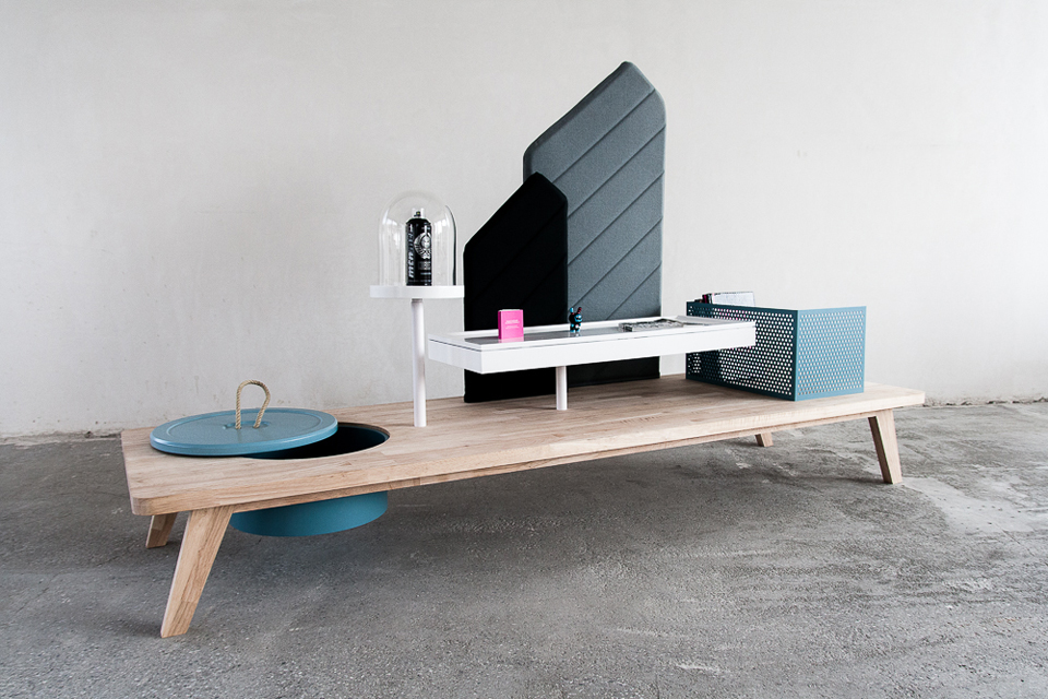Eye-Catching Interactive Table For Storage