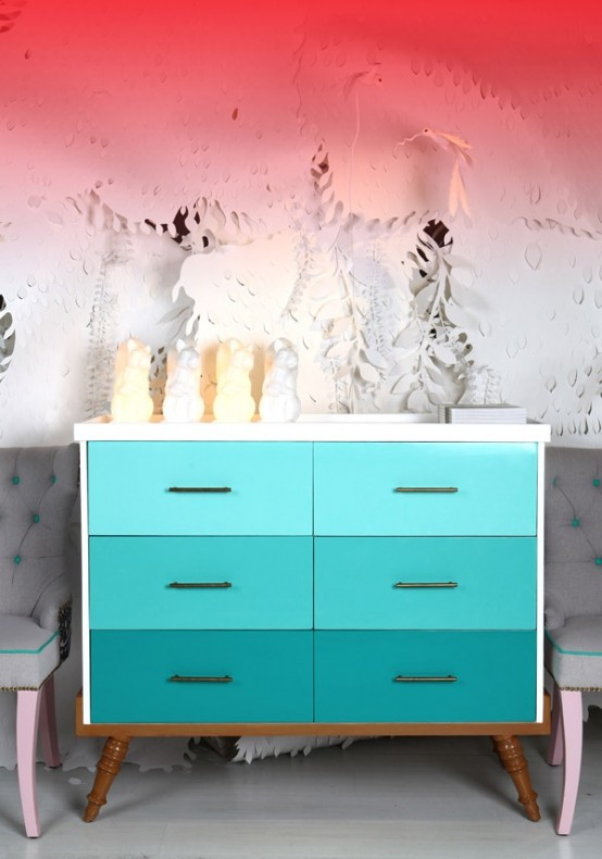 25 Eye-Catching Ombre Furniture Pieces - DigsDigs