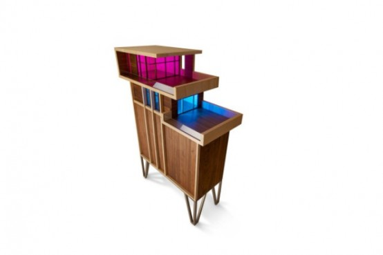 Eye Catching Penthouse Cabinet Nodding To Mid Century Modern Architecture