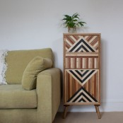 Eye Catching Unique Cabinet One From Natural Oak