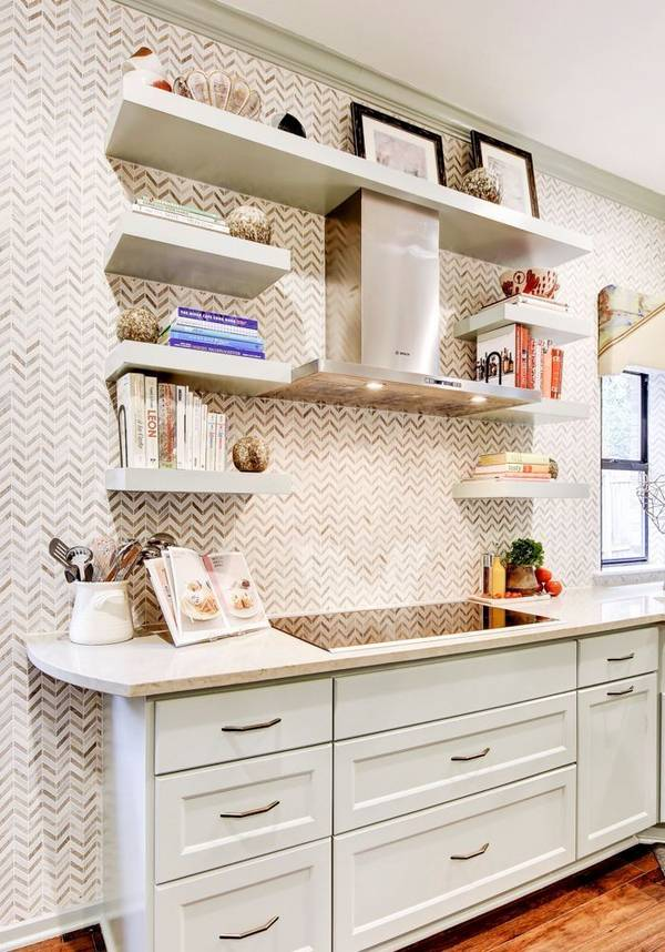 Picture Of eye catchy glam kitchen in a mix of patterns  3