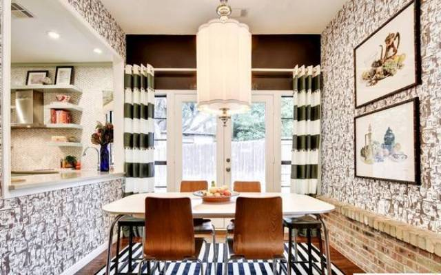 Picture Of eye catchy glam kitchen in a mix of patterns  6