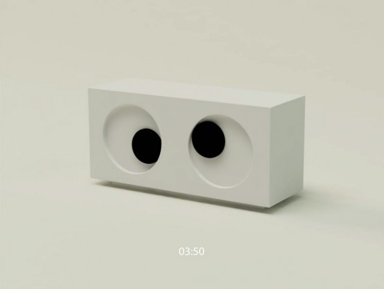 Funny Eye Clock by Mike Mak Design