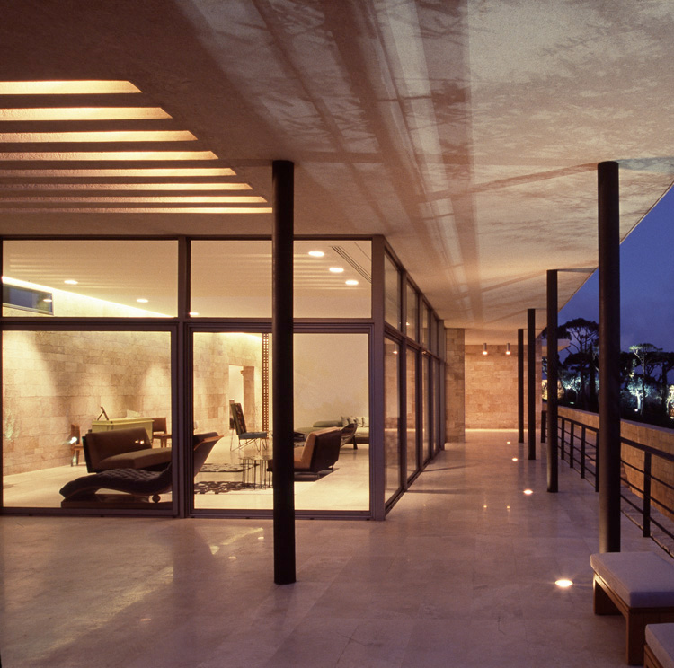 Modern mediterranean house f house by nabil gholam for Modern mediterranean architecture