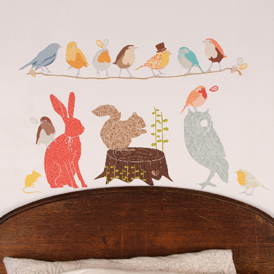 Cute Fabric Wall Stickers For Kids Rooms