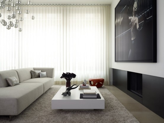 Fabulous and Modern Flat Interior Design - DigsDigs