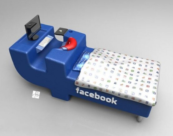 Facebook-Inspired Bed To Be Constantly Online