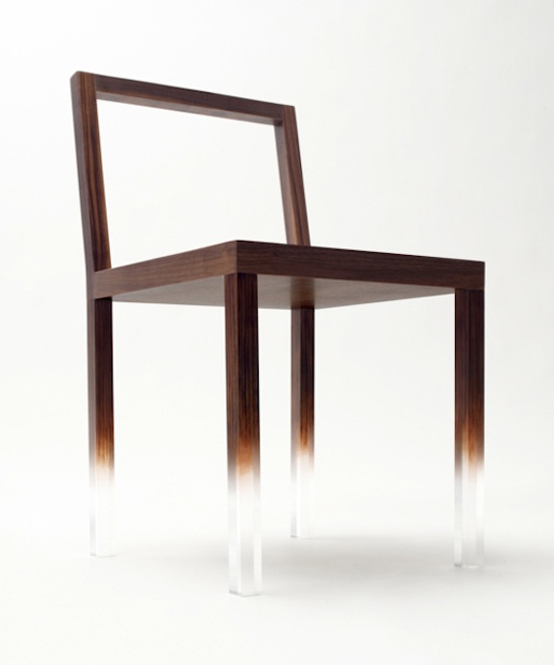 Simple Yet Very Unusual Fade-Out Chair by Nendo