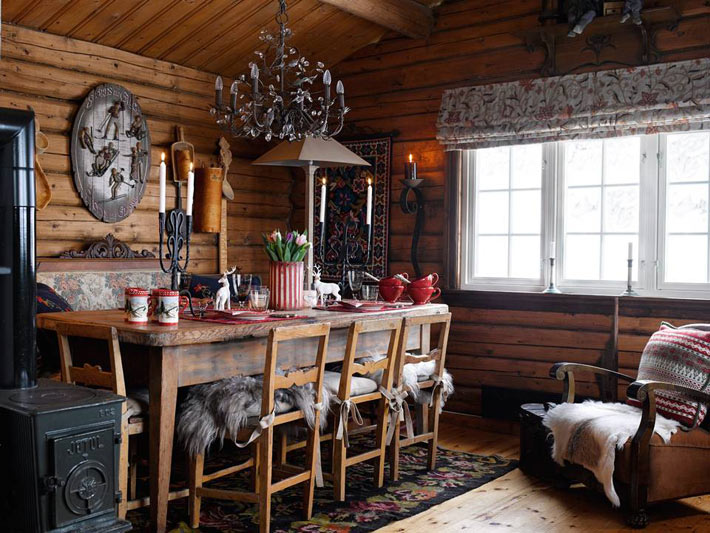 Picture Of fairy tale like and cozy wooden norwegian house  2