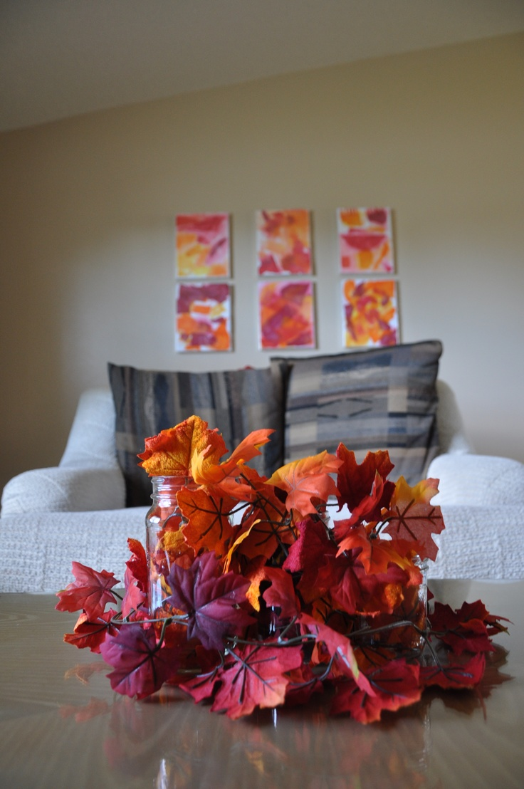 43 fall coffee table d cor ideas digsdigs for Autumn decoration