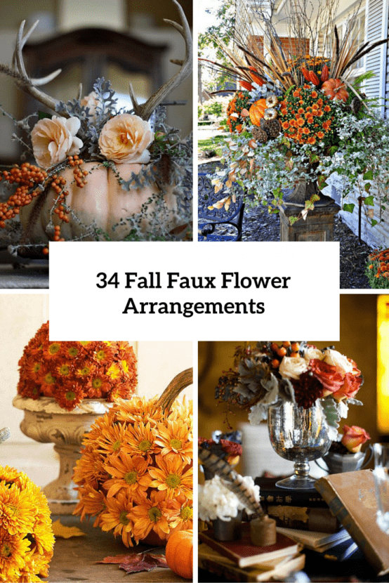 Fall Faux Flower Arrangements Cover