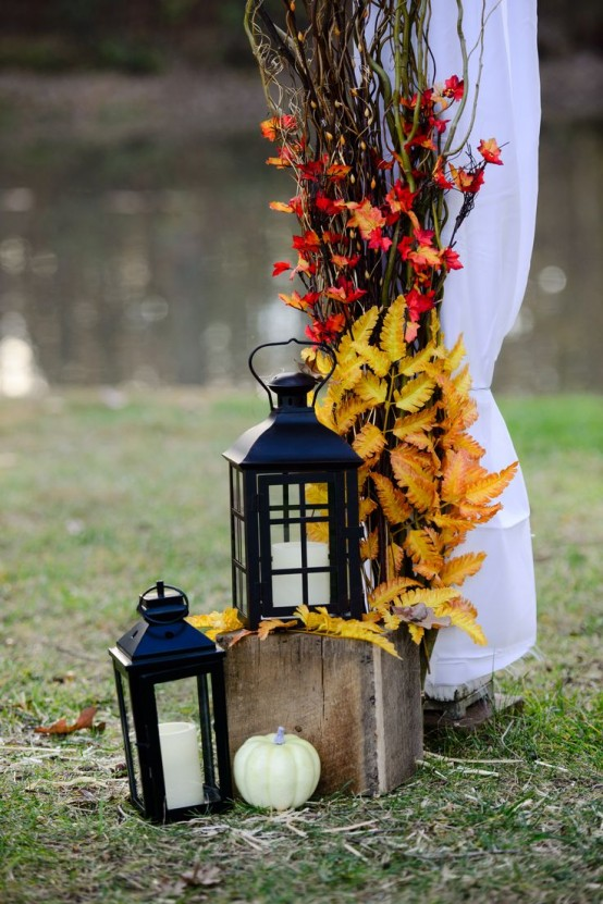 fall lanterns for outdoor and indoor decor - Fall Outdoor Decorations