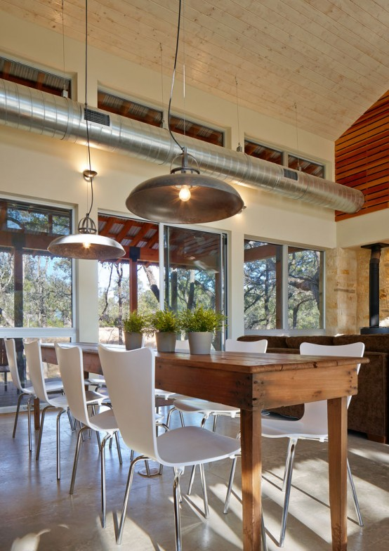 Family Retreat Mixes Rustic Materials With Modern Space Saving Design