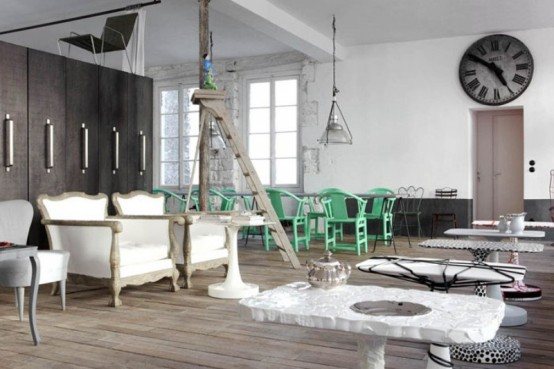 Famous Designer's Parisian Apartment In Eclectic Style