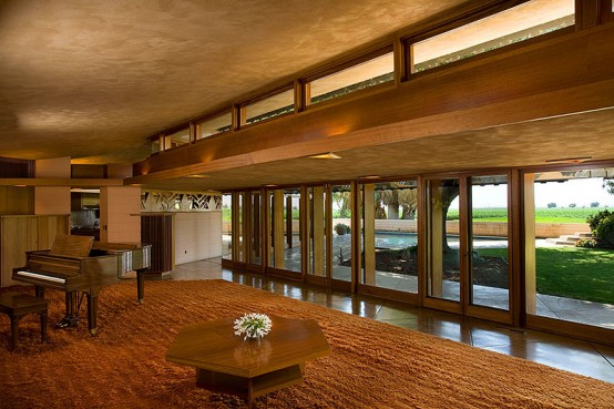 Farm House With Japanese Garden By Frank Lloyd Wright Digsdigs