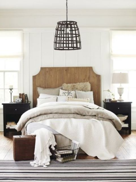 37 farmhouse bedroom design ideas that inspire digsdigs Modern chic master bedroom