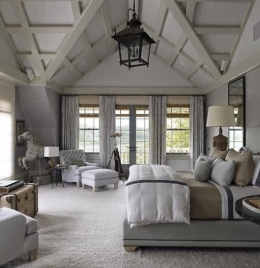 37 farmhouse bedroom design ideas that inspire digsdigs Master bedroom ceiling lighting ideas