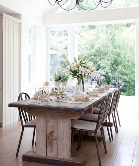 Work In Coziness 20 Farmhouse Home Office Décor Ideas: 34 Farmhouse Dining Rooms And Zones To Get Inspired