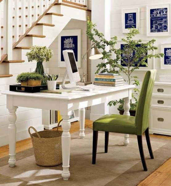 work in coziness: 20 farmhouse home office décor ideas - digsdigs