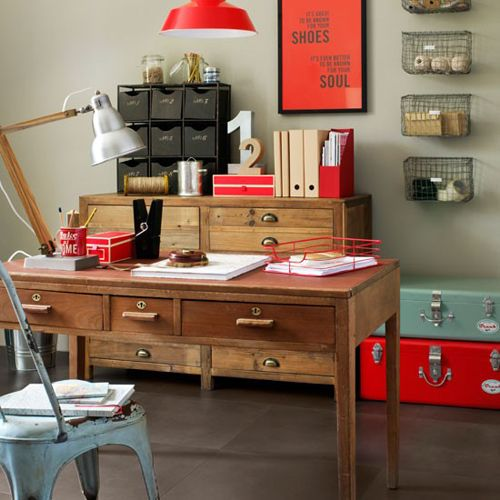 Home Office Decorating Ideas: Work In Coziness: 20 Farmhouse Home Office Décor Ideas