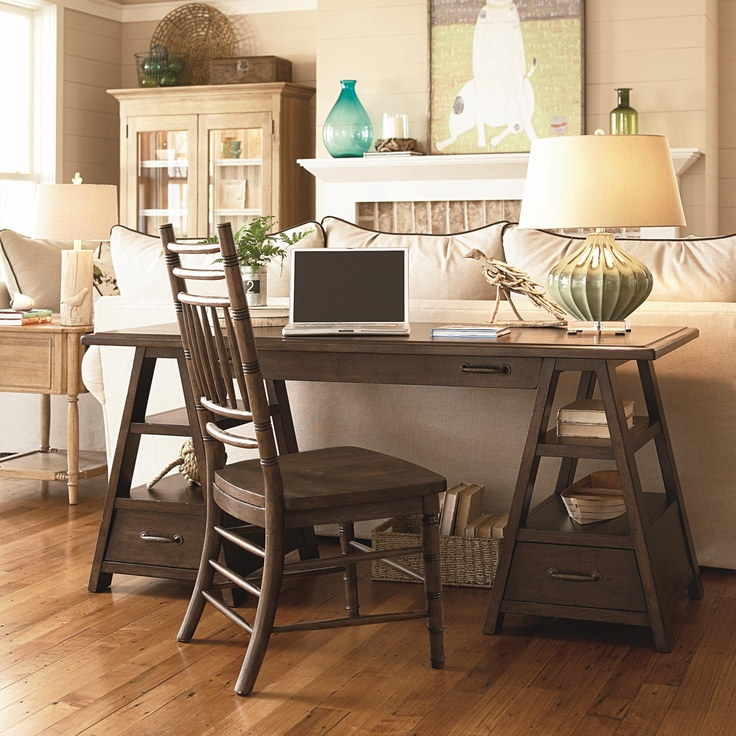 Home Desk Design Ideas: Work In Coziness: 20 Farmhouse Home Office Décor Ideas