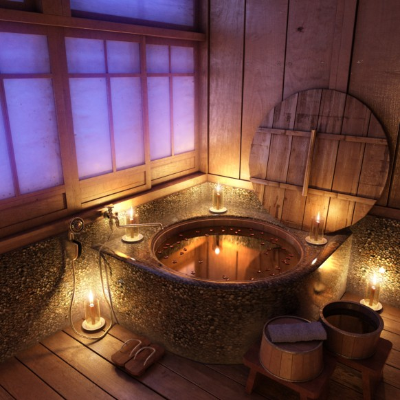 Farmhouse Inspired Rustic Bathroom