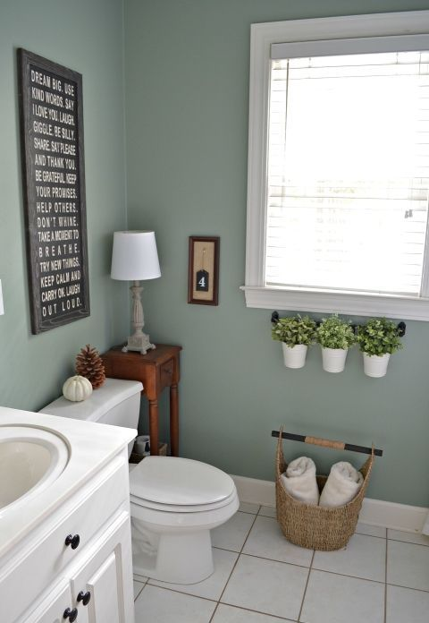 farmhouse styled bathroom