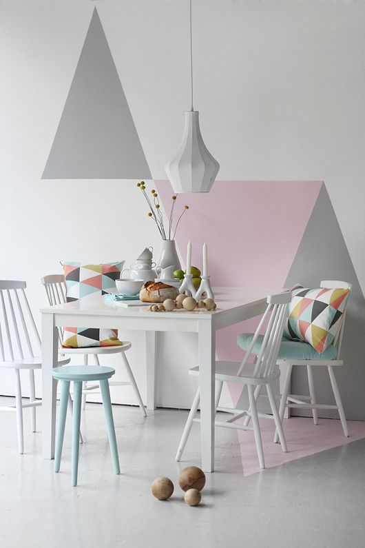 24 Fashionable Geometric Décor Ideas For Your Dining Space