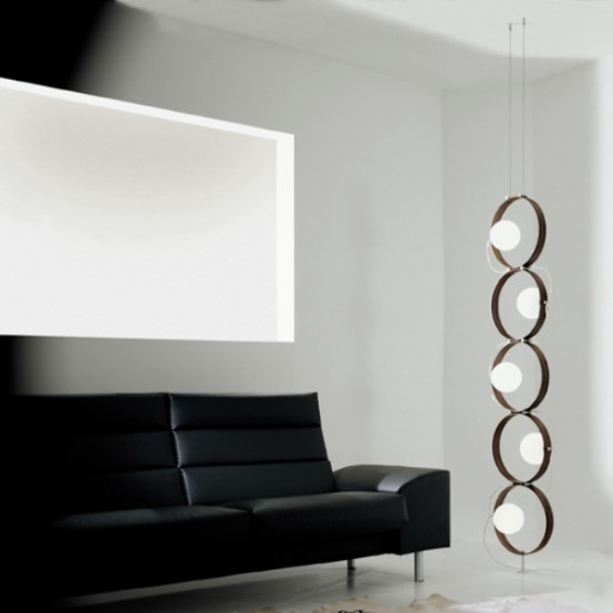 Fashionable Minimalist Lamp Reminding Of A Caterpillar