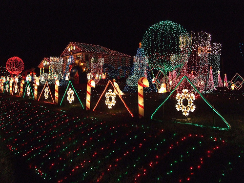 the faucher family has been putting up their christmas light extravaganza outside their delaware home for 23 years and if you think 1000 lights are a lot - Christmas Decorations Lights