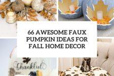 Faux Pumpkin Decor Ideas Cover