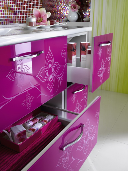 Femenine Glamour Bathroom Furniture
