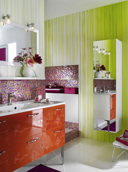 Glamour Bathroom Furniture And Designs For Girls From
