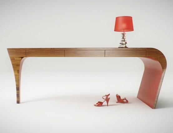 Feminine Table Design Stiletto Splinter Works