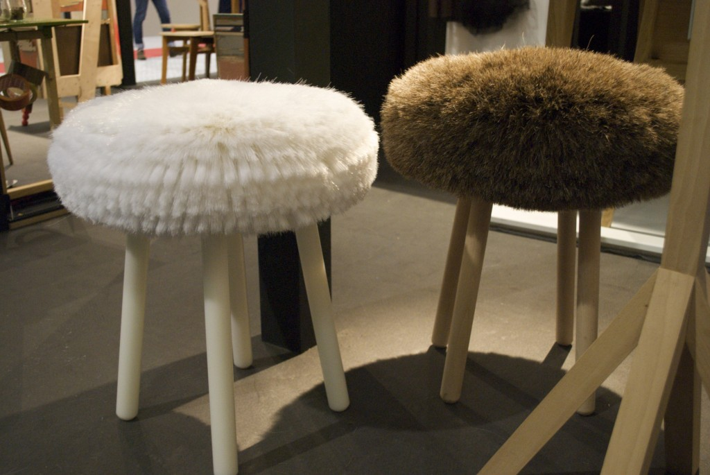 Cozy Stools Made Of Fibers, Horsehair and Wood