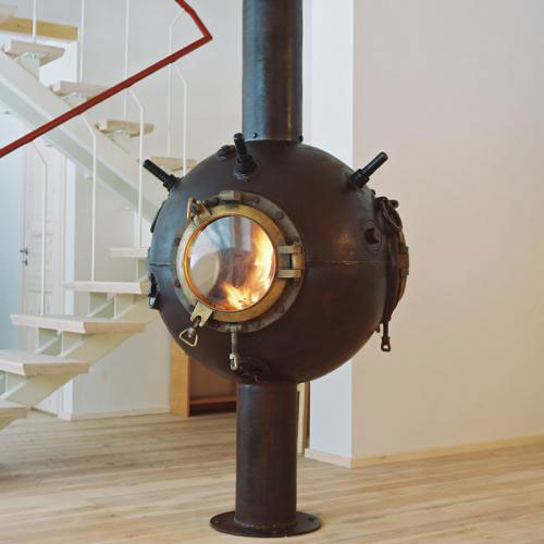 Odd Fireplaces Made Of Naval Mines